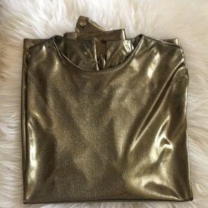 Vintage gold long sleeve shirt